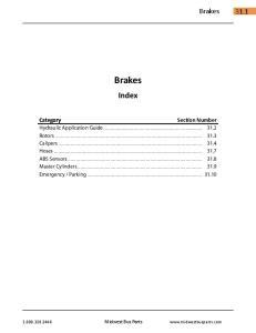 Brakes. Index. Brakes Category