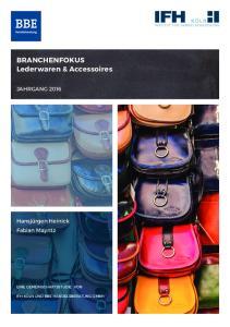 BRANCHENFOKUS Lederwaren & Accessoires