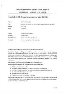 BRANCHENORGANISATION MILCH
