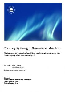 Brand equity through rollercoasters and rabbits: