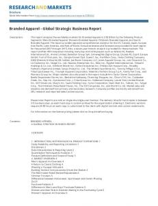 Branded Apparel - Global Strategic Business Report