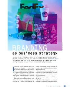 BRANDING. as business strategy