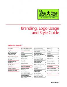Branding, Logo Usage and Style Guide