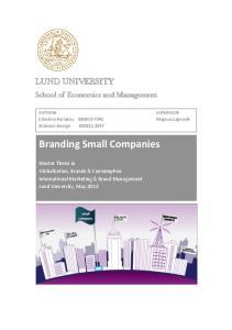 Branding Small Companies