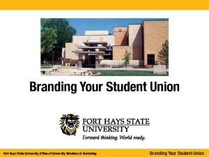 Branding Your Student Union