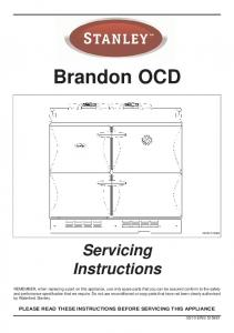 Brandon OCD. Servicing Instructions