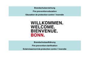 Brandschutzerziehung Fire prevention education Education de protection contre l incendie