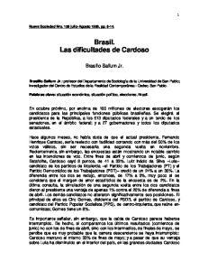 Brasil. Las dificultades de Cardoso