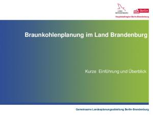 Braunkohlenplanung im Land Brandenburg