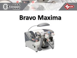 Bravo Maxima Bravo Maxima jest najnowszym modelem firmy Silca dla profesjonalnych kluczykarzy. Ten model