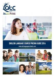 Bray Dublin Winchester ENGLISH LANGUAGE COURSE PRICING GUIDE