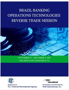 BRAZIL BANKING OPERATIONS TECHNOLOGIES REVERSE TRADE MISSION