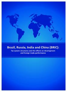 Brazil, Russia, India and China (BRIC):