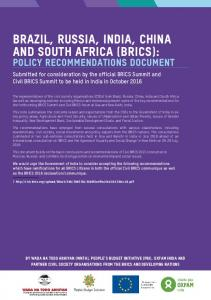 Brazil, Russia, India, China and South Africa (BRICS):