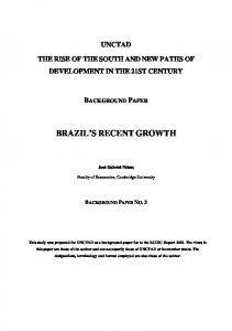 BRAZIL S RECENT GROWTH
