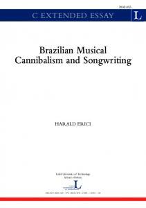 Brazilian Musical Cannibalism and Songwriting