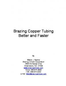 Brazing Copper Tubing Better and Faster