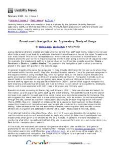 Breadcrumb Navigation: An Exploratory Study of Usage