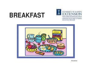 BREAKFAST. Breakfast