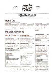 BREAKFAST MENU All Day (excludes hot breakfast menu)