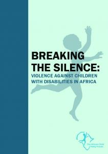BREAKING THE SILENCE: VIOLENCE AGAINST CHILDREN WITH DISABILITIES IN AFRICA