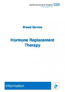 Breast Service Hormone Replacement Therapy