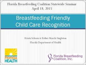 Breastfeeding Friendly Child Care Recognition