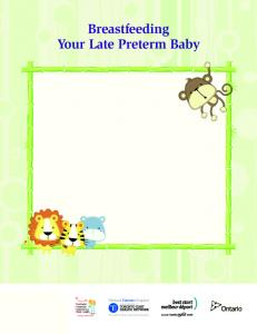 Breastfeeding Your Late Preterm Baby