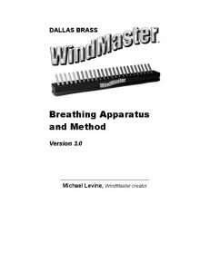 Breathing Apparatus and Method