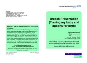 Breech Presentation (Turning my baby and options for birth)