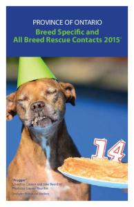 Breed Specific and All Breed Rescue Contacts 2015 *