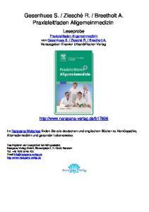Breetholt A. Praxisleitfaden Allgemeinmedizin