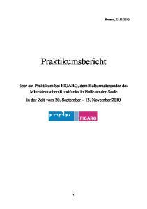 Bremen, Praktikumsbericht