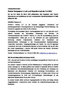 Bremer Kompetenz in Luft- und Raumfahrt auf der ILA 2016