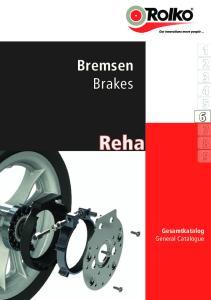 Bremsen Brakes. Reha. Gesamtkatalog General Catalogue