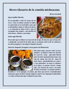 Breve Glosario de la comida michoacana