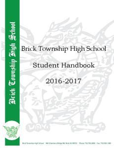 Brick Township High School. Student Handbook