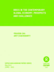 BRICS in the Contemporary Global Economy: Prospects and Challenges