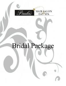 Bridal Agreement; Terms and Conditions