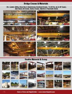 Bridge Cranes & Materials