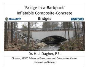 Bridge in a Backpack. Bridges