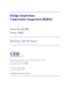 Bridge Inspection: Underwater Inspection (BIRM)