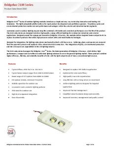 Bridgelux OLM Series. Product Data Sheet DS60. Introduction. Features. Benefits