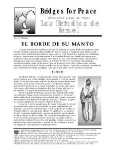 Bridges for Peace EL BORDE DE SU MANTO FLECOS. Vol. # S