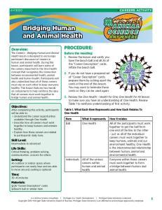 Bridging Human and Animal Health