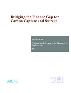 Bridging the Finance Gap for Carbon Capture and Storage