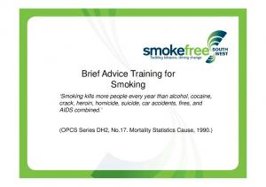 Brief Advice Training for Smoking