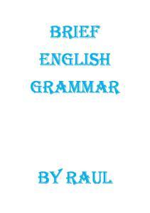BRIEF ENGLISH GRAMMAR