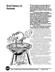 Brief History of Rockets