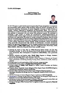 Brief Introduction To Dr. M.H.Faruquee MBBS, MPH